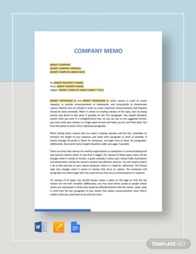 sample company memo template1