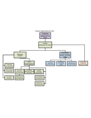 sample finance organizational chart in pdf
