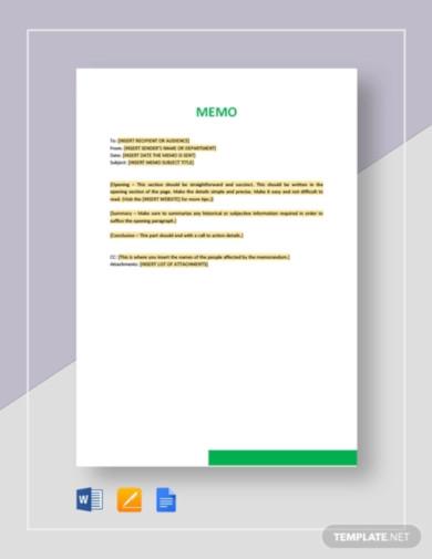 sample memo template2