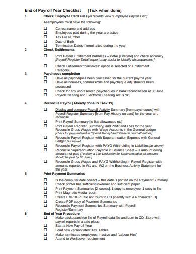 sample payroll list
