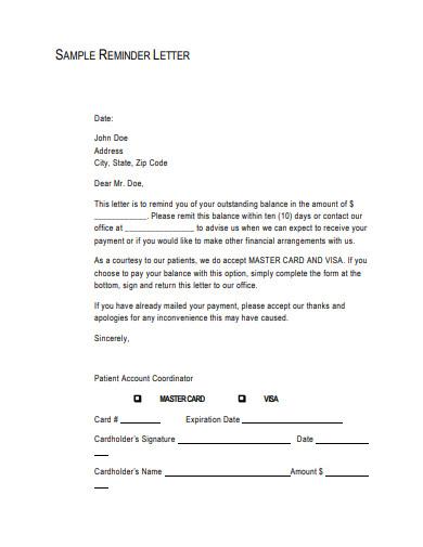 sample reminder letter template1