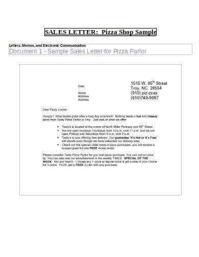 sample sales letter template