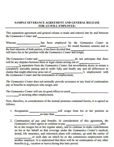 13+ Severance Agreement Templates - Google Docs, Word, Pages