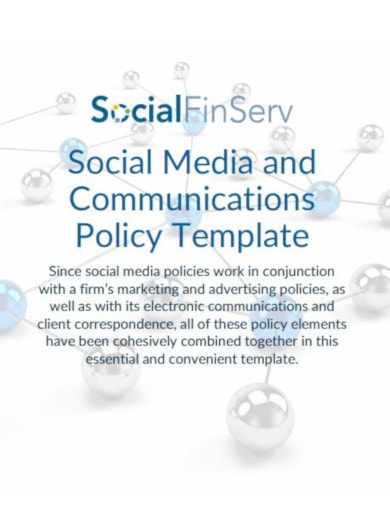 sample social media for financial services template
