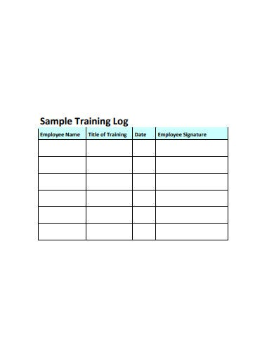 sample training log format