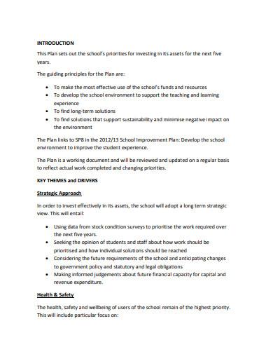 school asset plan