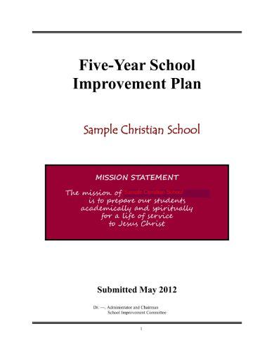 school improvement plan sample 1 001