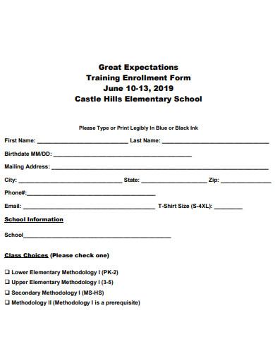 school-training-enrollment-form