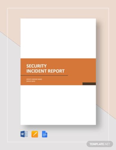 8  security report templates in google docs