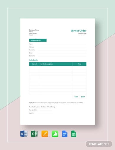 service-order-template