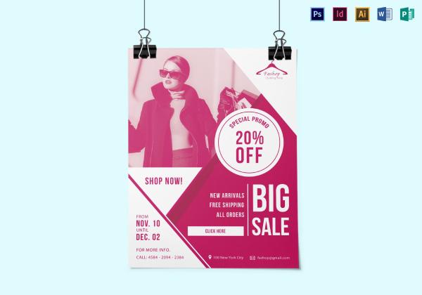 shopping discount flyer