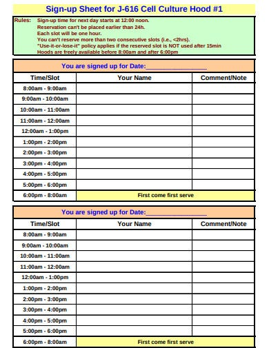15 Sign Up Sheet Templates In Google Docs Google Sheets Word Excel Pages Numbers Pdf Free Premium Templates