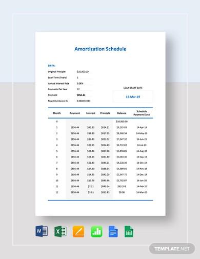 simple amortization schedule template1