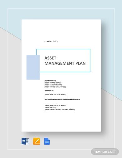 simple asset management plan