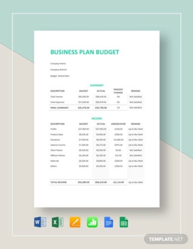 simple business plan budget template1