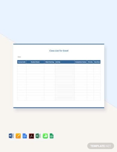 simple class list template