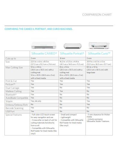 simple comparison chart template