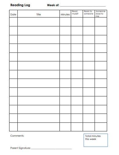 simple log sheet template