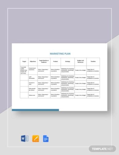 simple marketing plan template3