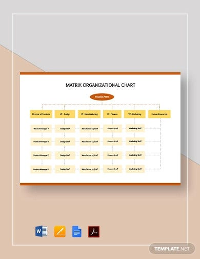 simple-matrix-organizational-chart-template