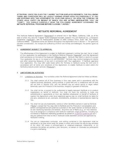simple referral agreement in pdf