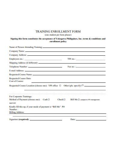 simple-training-enrollment-form