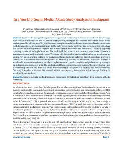 social media case study analysis