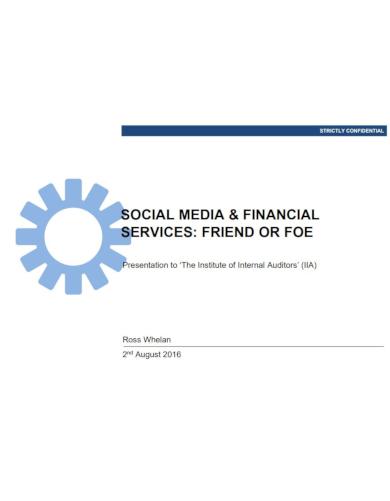 social media for financial services a presentation