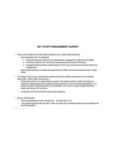 staff engagement survey template