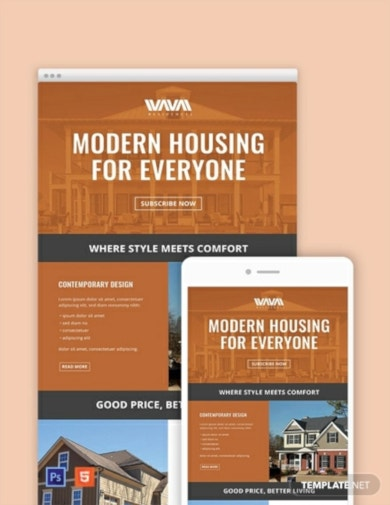 standard real estate email newsletter template