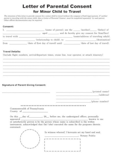10 Travel Consent Form Templates Pdf Docx Free