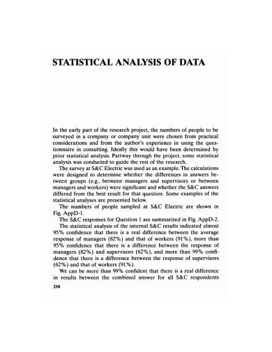 statistical analysis of data template