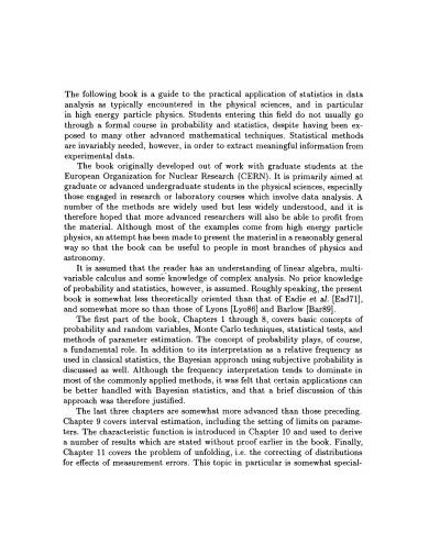 statistical data analysis in pdf