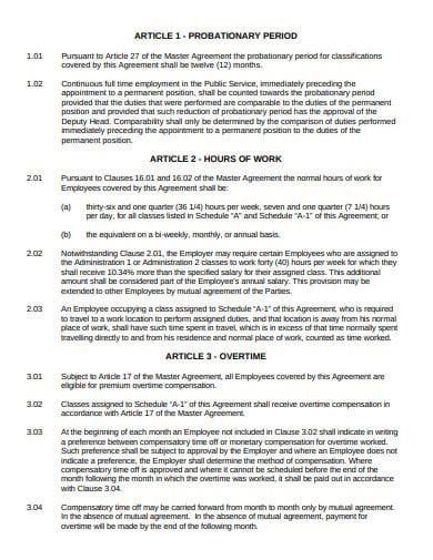 subsidiary agreement example