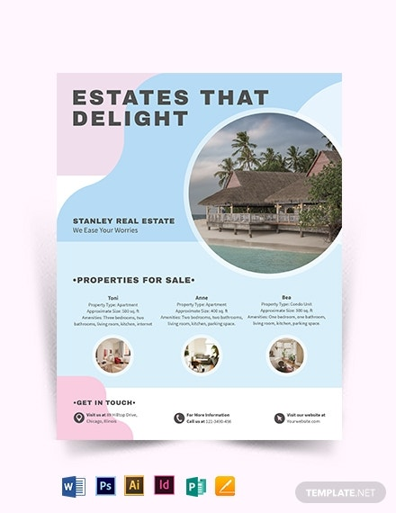 summer vacation rental flyer template1