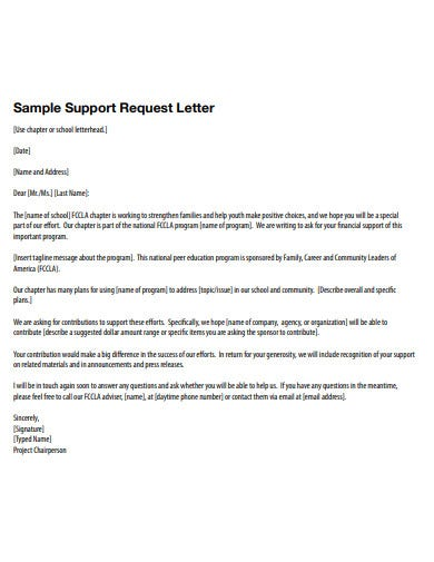 Letter Of Support Templates from images.template.net