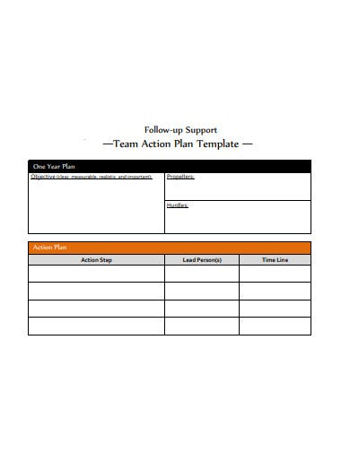 team action plan example