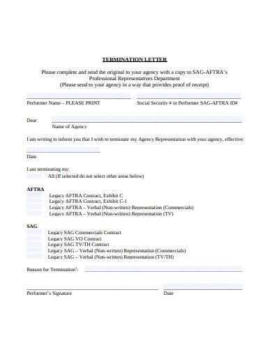 termination letter format