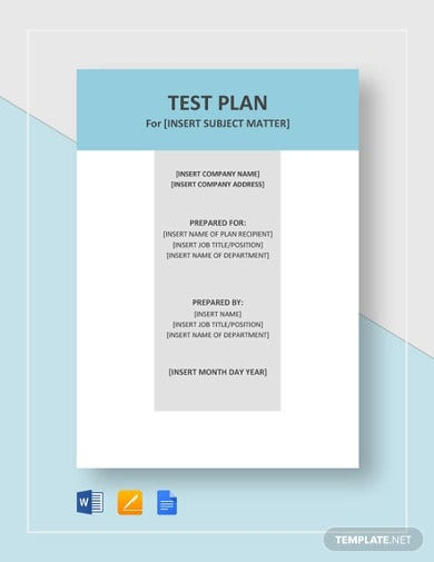 test plan template in pages
