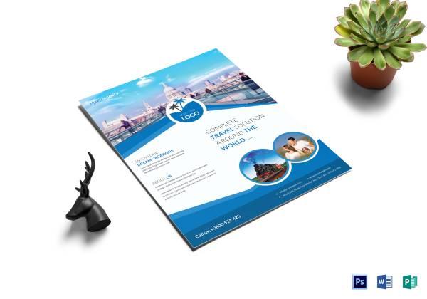 tourist travel flyer template