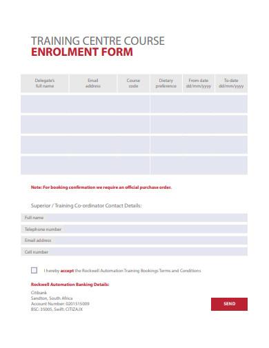 training-center-enrollment-form