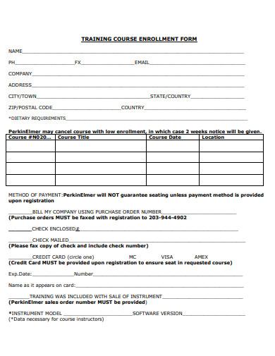 training-course-enrollment-form