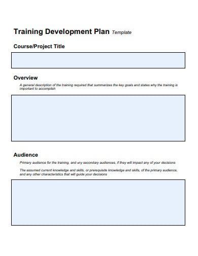 3+ Training Development Plan Templates in PDF | DOC | Free ...