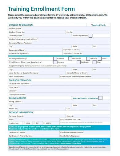 training-enrollment-form