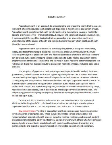training interdisciplinary evaluation executive summary