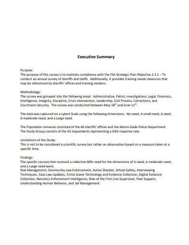9  training executive summary templates in pdf