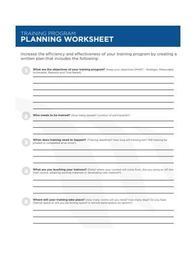 training-program-planning-worksheet-template