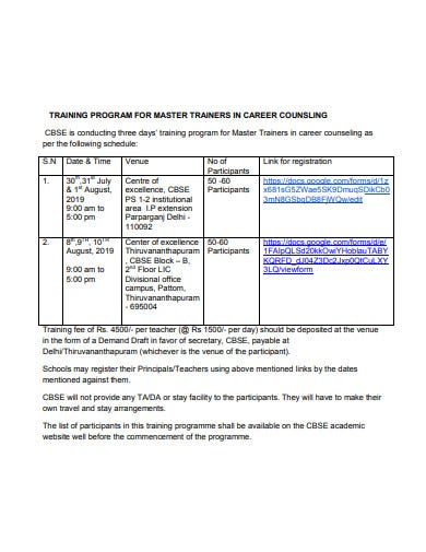 training program for trainers