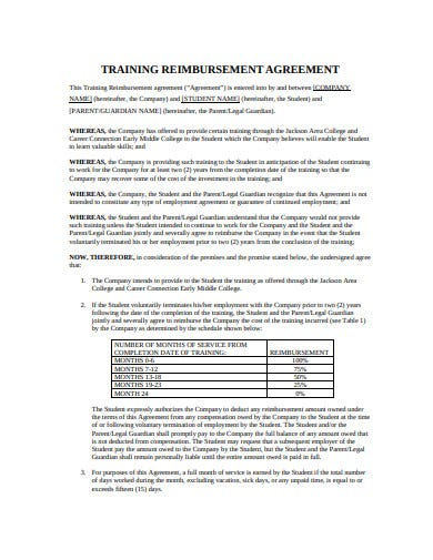 20+ Reimbursement Agreement Templates - PDF | Free ...