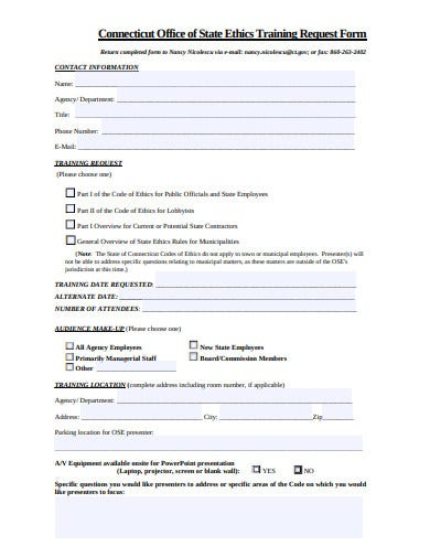 training request form example